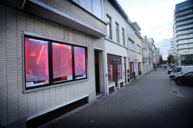 De prostitutiebuurt op 't Hazegras in Oostende.