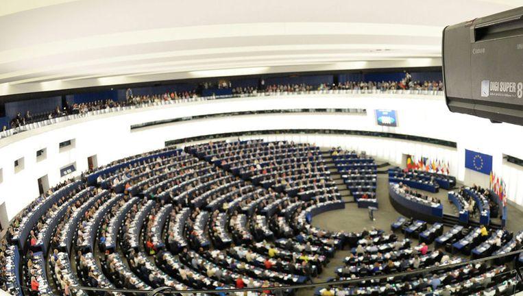 Een zitting van het Europees Parlement in Straatsburg Beeld epa