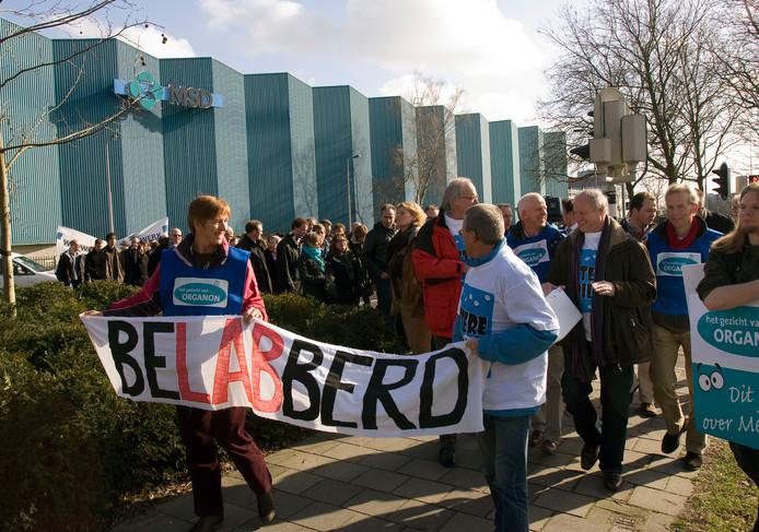 In februari 2011 staakten medewerkers van Organon in Oss.