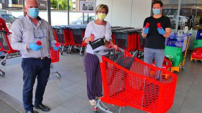 """AD Delhaize deelt extra handgrepen voor winkelkarren uit: """"Extra bescherming tegen verspreiding coronavirus"""""""