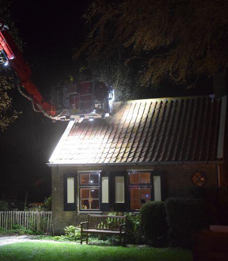Brand in Zonnemaire door gescheurde schoorsteenmantel