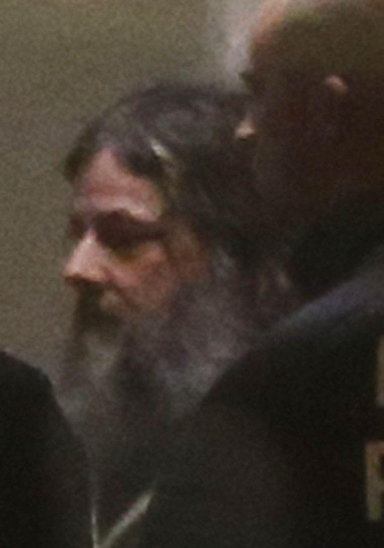 Mac Dutroux twee weken geleden bij de hoorzitting in het Paleis van Justitie in Brussel. Beeld reuters
