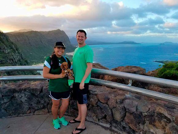 Michelle Paul en David Paul in Hawaii.