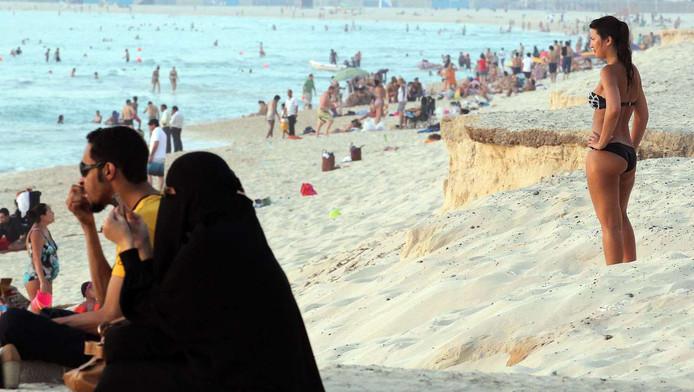 Een strand in Dubai, foto ter illustratie.