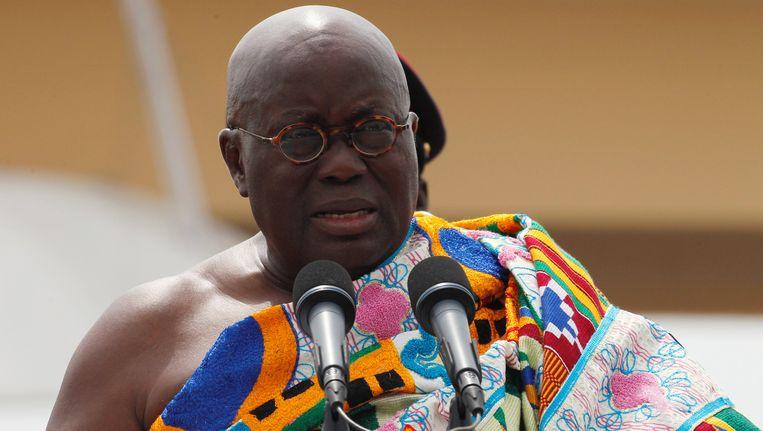 De nieuwe Ghanese president Nana Akufo-Addo.