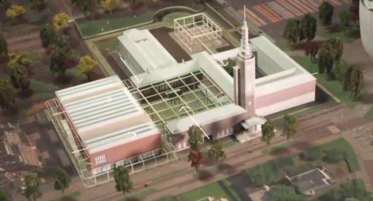 null Beeld Conceptontwerp voor de renovatie van Museum Boijmans Van Beuningen.