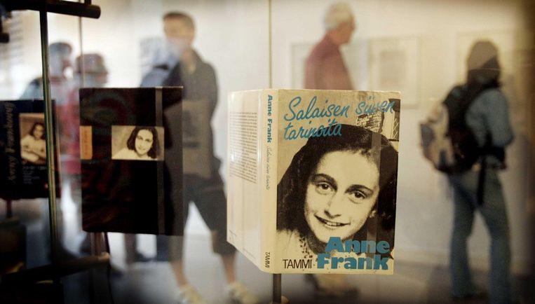 Omdat vrijdag de tachtigste geboortedag is van 's werelds bekendste onderduikster, heeft de NOS voor een speciale uitzending van 45 pasfotootjes een korte, bewegende animatie van Anne Frank gemaakt. Foto ANP Beeld