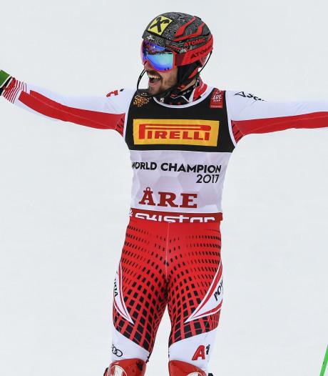 Hirscher opnieuw wereldkampioen op de slalom