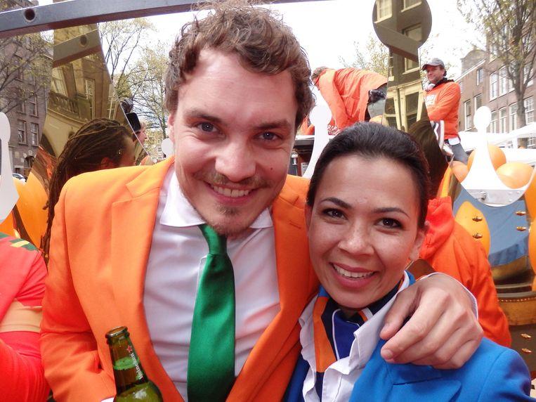 Marco van Houwelingen (Heineken) en Diana Keiman (KLM). Beeld Schuim