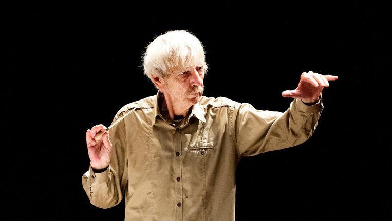Dirigent, pianist, componist en muziekpedagoog Reinbert de Leeuw is zaterdag tachtig jaar geworden. Beeld anp