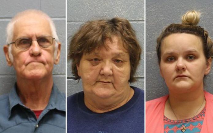 Opa James, oma Pamela en moeder Kylla zitten vast