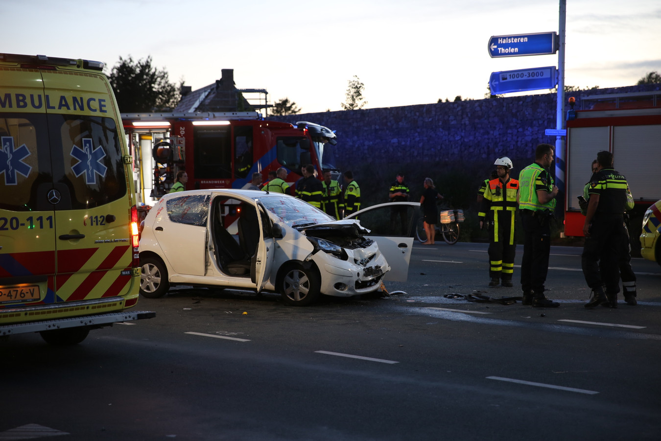 Bij het ongeval vielen meerdere gewonden.