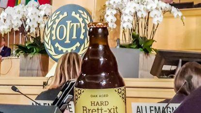 Belgisch Brexit bier drijft de spot met Theresa May