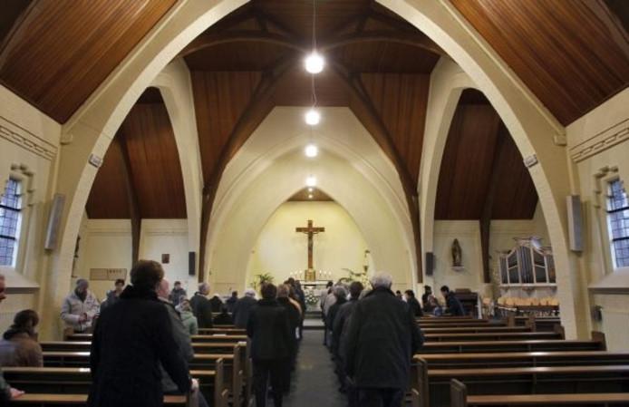 Het interieur van de kerk in Brouwhuis. foto Jurriaan Balke