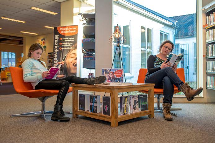 De bibliotheek in Someren.