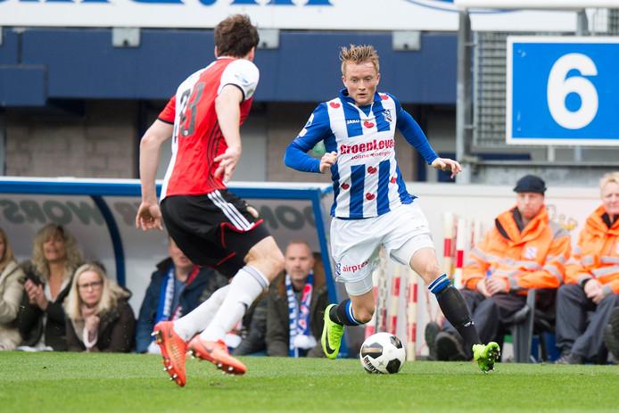 Sam Larsson eerder dit jaar in actie tegen Feyenoord