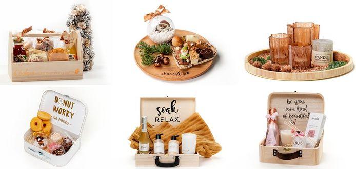 19 handelaars uit Hooglede bundelen de krachten voor 12 verschillende geschenkpakketten.
