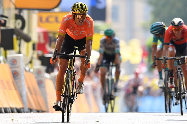 Greg Van Avermaet bolde als derde over de streep in Gap.