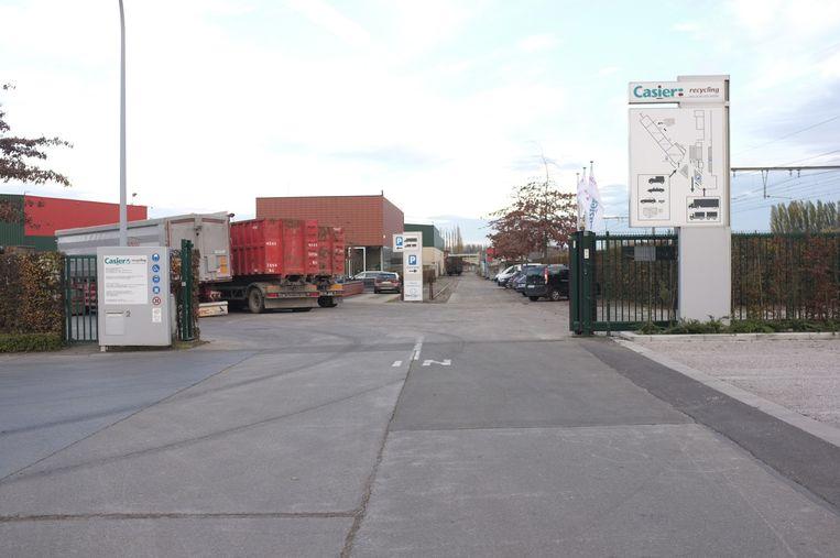 Recyclagebedrijf Casier Recycling in Deerlijk (archief).