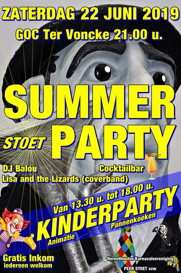 De affiche van de Summer Stoet Party.
