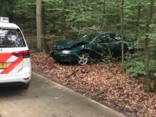 Voorbijganger vindt beschadigde Poolse auto in bos Putten, politie zoekt bestuurder