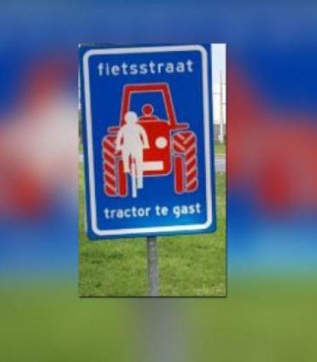 'Tractor te gast' op de fietsstraat tussen Utrecht en Bunnik