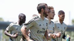 Hoopvol: daags na niet-selectie verschijnt Eden Hazard op training Real
