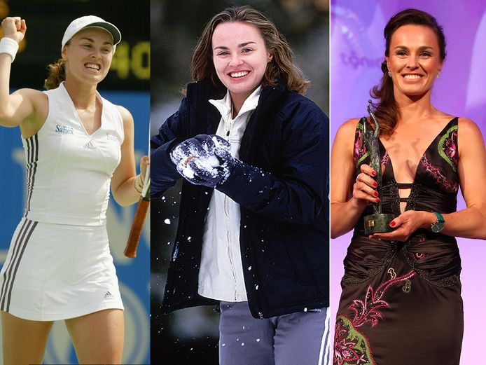 Martina Hingis in 2002, 2006 en 2016.