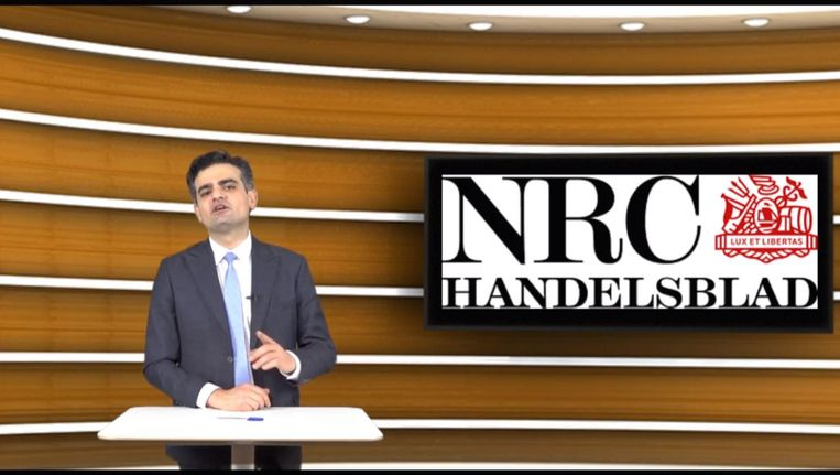 Denk-voorman Kuzu tijdens het Youtubefilmpje dat de partij opnam als reactie op het NRC-artikel Beeld