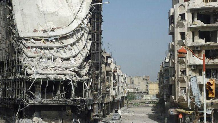 Verwoestingen in Homs Beeld REUTERS