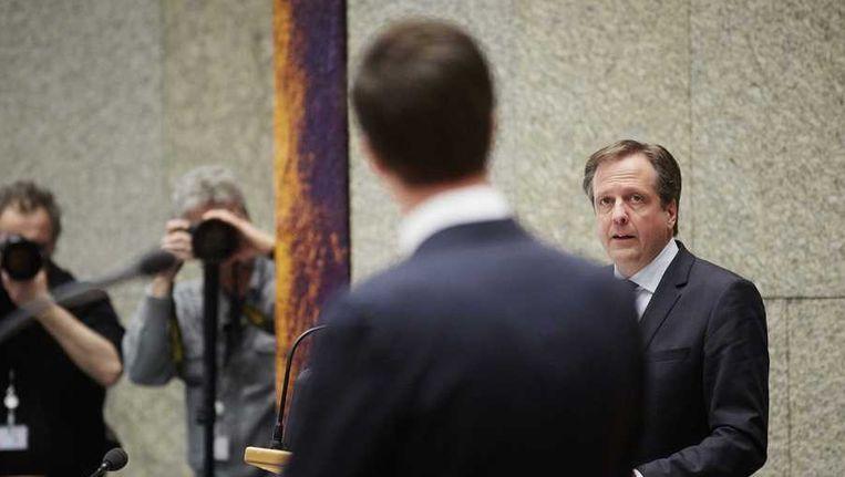 D66-leider Alexander Pechtold in de Tweede Kamer. Beeld anp