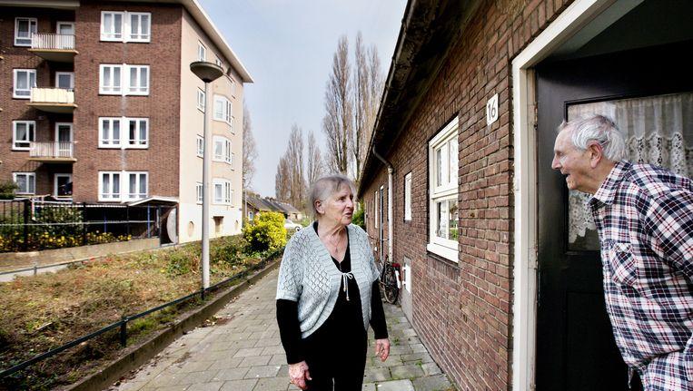 Bewoners van de Piggelmeewoningen in Bos en Lommer. Beeld Jean-Pierre Jans