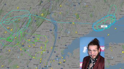Piloot zet privéjet met Post Malone aan boord veilig aan de grond na twee klapbanden bij het opstijgen vijf uur eerder
