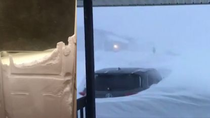 Straffe beelden tonen hoe zeldzame sneeuwstorm Canada lam legt