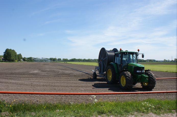 Ook agrarische gronden naast de Binnenveldse Hooilanden hebben extra water nodig.