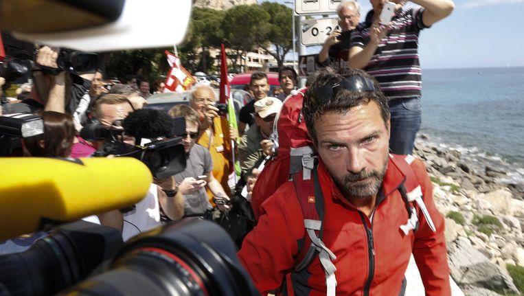 Kerviel kwam vandaag aan in Ventimiglia, bij de Frans-Italiaanse grens.