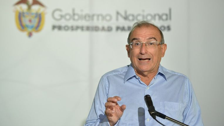 de Colombiaanse onderhandelaar Humberto de la Calle Beeld afp