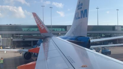 Botsing op luchthaven van Schiphol gefilmd