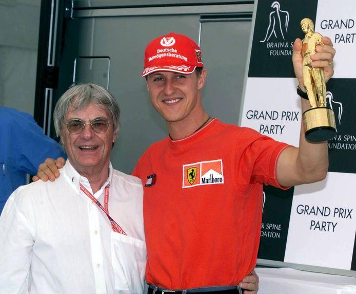 Michael Schumacher met Bernie Ecclestone.