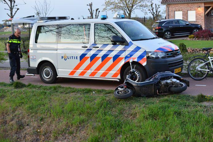 Hardloopster aangereden door scooterrijden in Etten-Leur.