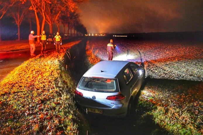 Een vrouw miste een bocht op de Abdijweg bij Borkel en Schaft.