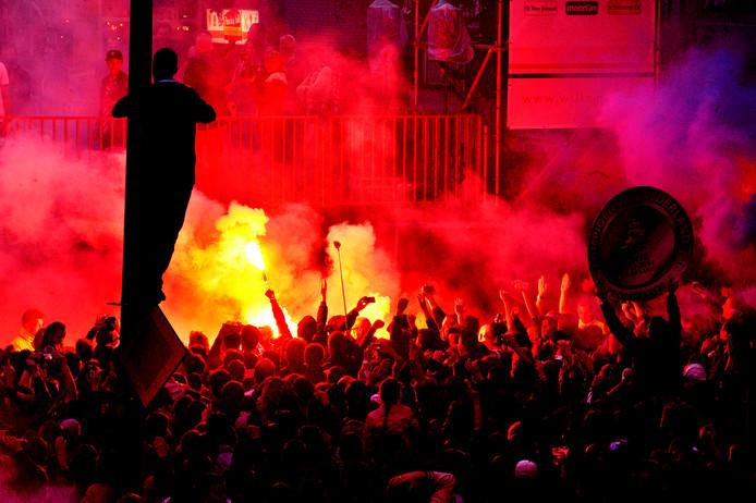Het feest op de Heuvel toen Willem II in 2014 kampioen werd in de Jupiler League.