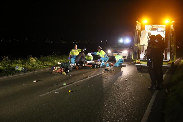 Bestuurder ligfiets ernstig gewond na aanrijding op Zevenbergseweg bij ...