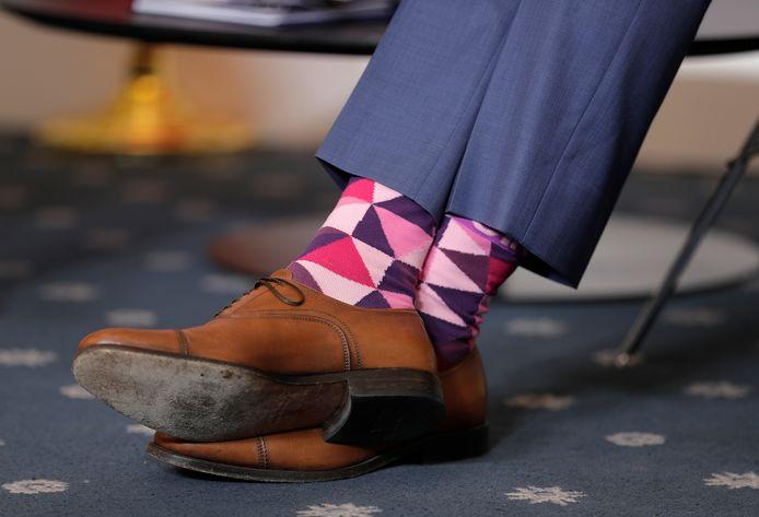 Tijdens de G7-top koos de Canadese premier Justin Trudeau ook voor opvallende sokken.