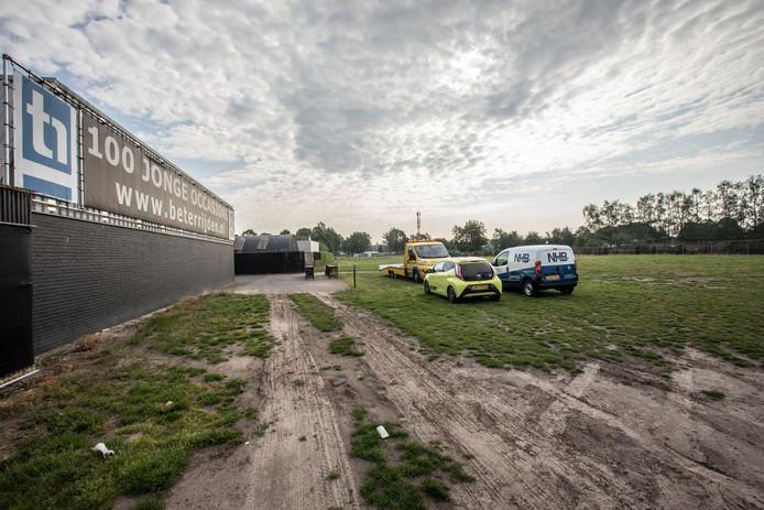 Terrein waar Tonnie van der Heijden woningen mag gaan bouwen in Gerwen.