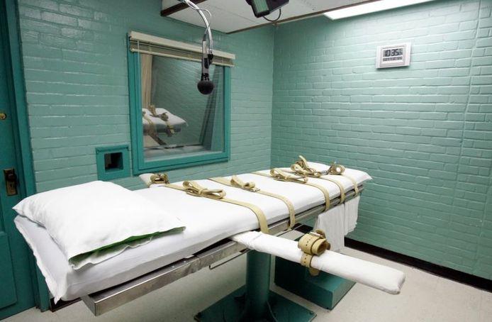 De executiekamer in de gevangenis van Texas.