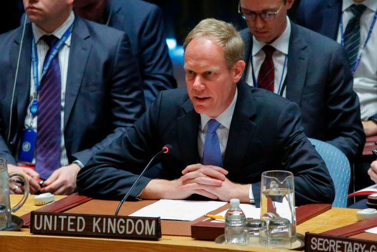 De Britse VN-ambassadeur Matthew Rycroft. Beeld anp