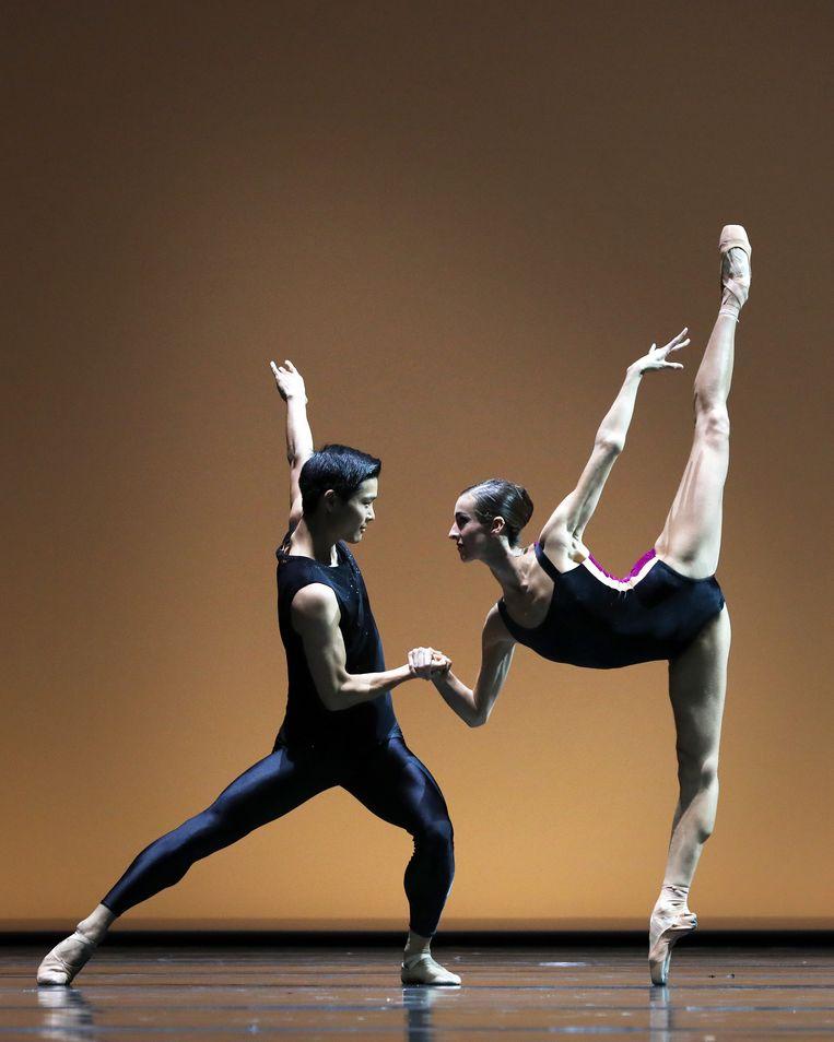 Pas/Parts 2018 van William Forsythe door Young Gyu Choi en Floor Eimers van Het Nationale Ballet. Beeld Hans Gerritsen