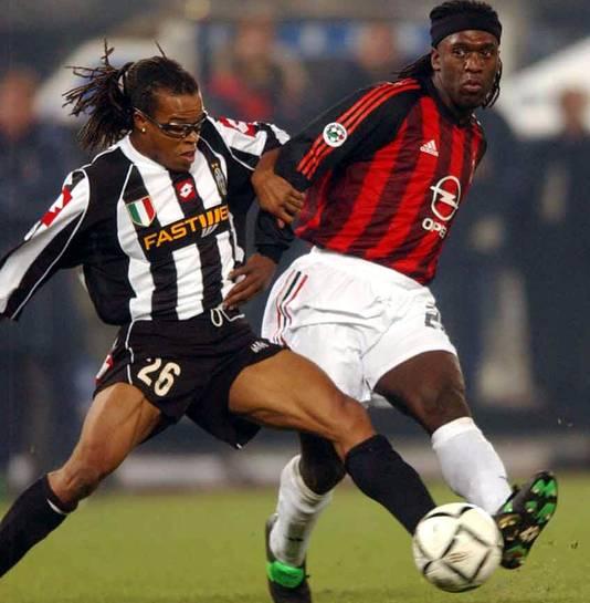David (links) en Seedorf (rechts) ooit teamgenoten bij Ajax, later rivalen in Italië.