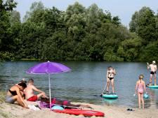 Etten-Leur heeft de Westpolderplas lekker voor zichzelf: te heet voor passanten!